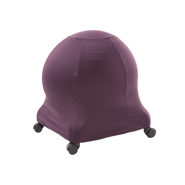 Plum ball chair cover