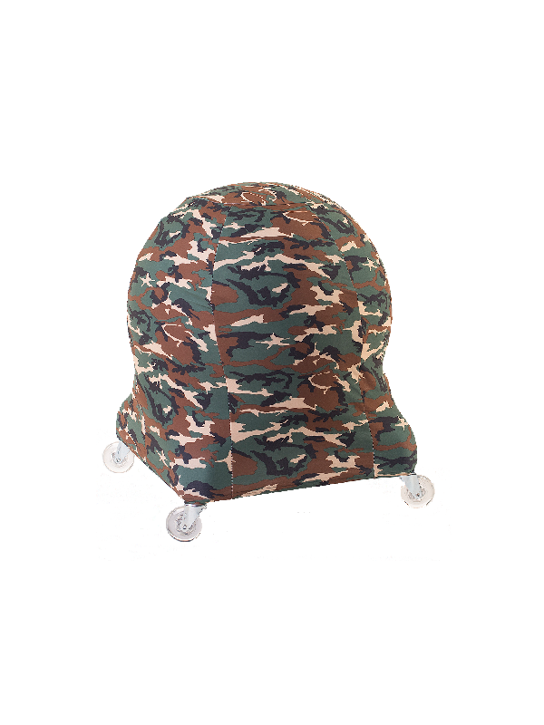 Ball Chair with Camo Chair Cover and Clear Casters