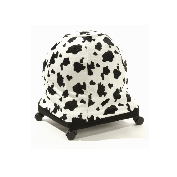cow print ball chair cover