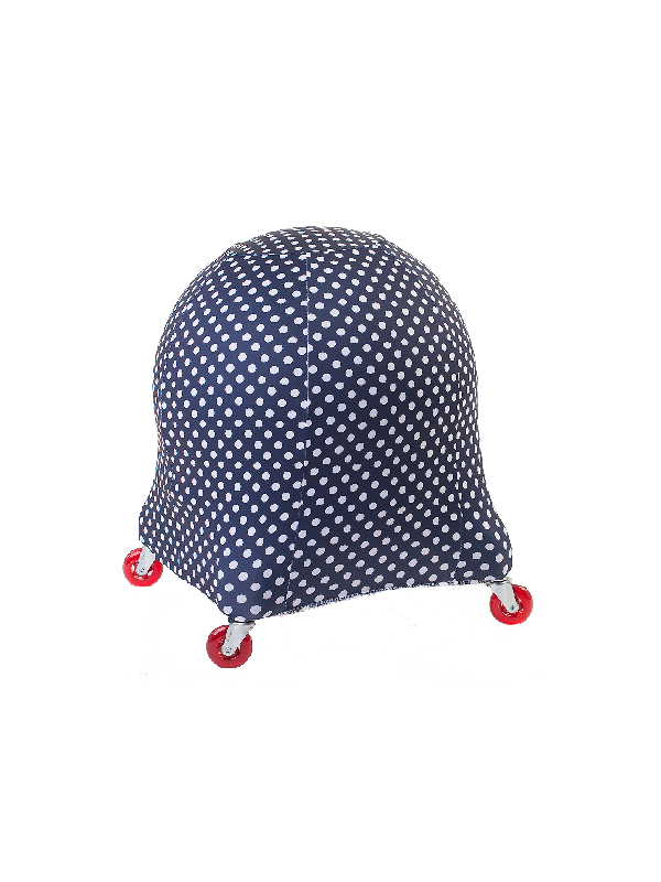 blue dot ball chair cover