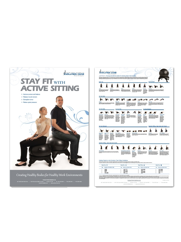 Evolution Stay Fit ball chair exercise poster
